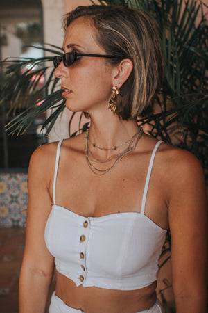 Button-Down Crop Top