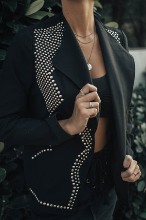 Black Studded Jacket