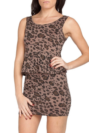 SF CHEETAH ANIMAL PRINT MINI DRESS