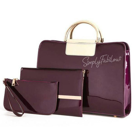 Sparkle's Evening 3 Pcs Handbag Set