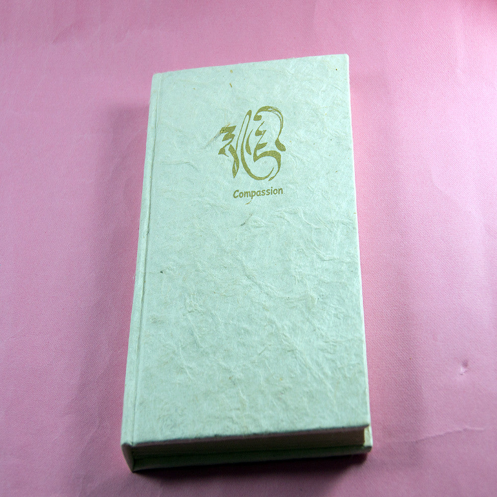 Compassion personalized nepalese traditional handmade peace notebook for wholesale buy.