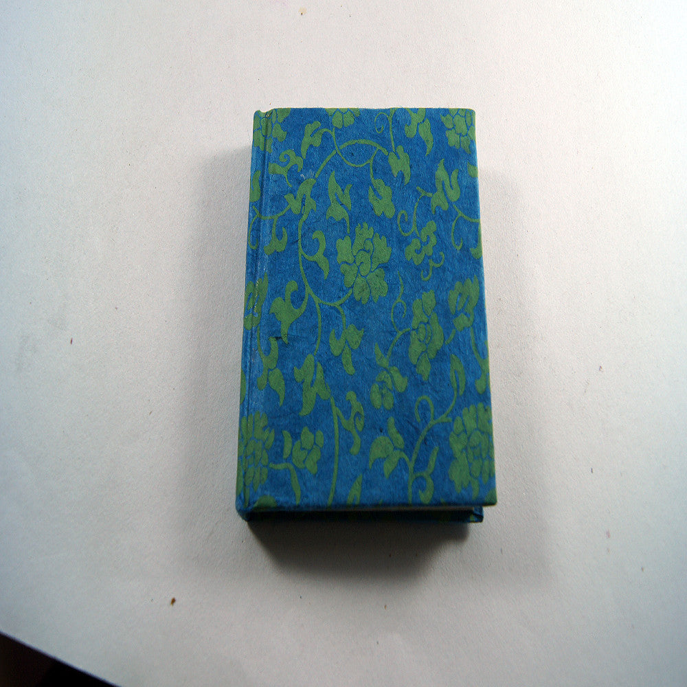 Flower print blue handmade cool authentic notebook for online buy for wholesale price.