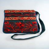 Red flower print bag