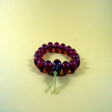 Authentic fair trade buddhist prayer Grape Wrist meditation Mala prayer beads handmade jwellery.