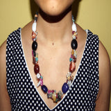 Mixed gemstone necklace