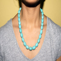 Round oval turquoise necklace