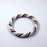 fashionable colourful rainbow hurricane roll on authentic handmade trendy bracelet for women made in nepal.