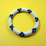 Fashionable and fair trade mohave snake roll on authentic bracelet handmade in nepal