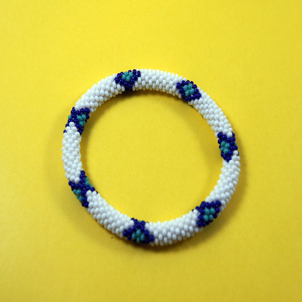 Fashionable and fair trade mohave snake roll on authentic bracelet handmade in nepal.