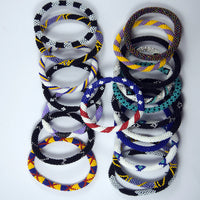 fair trade authentic 2 for $14 roll on cheap handmade colourful fashionable bracelet handmade in nepal.