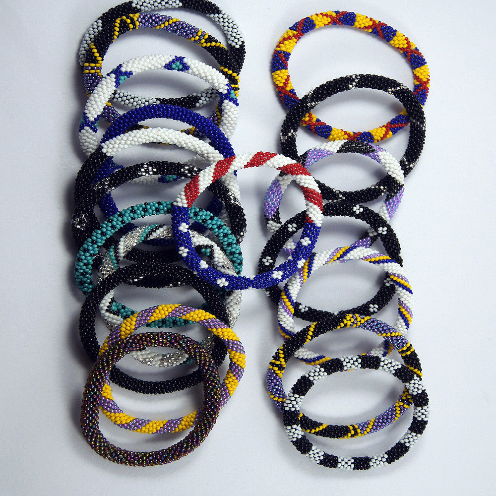 Fashionable 6 for $30 roll on trendy and authentic fair trade bracelet for women handmade in nepal.