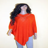 pasmina top orange necklace embroidered
