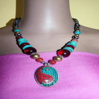 Traditional tibetan peace necklace