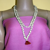 Skully bone necklace/mala