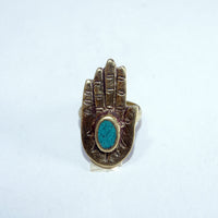 Buddha dharma Hamsha buddhist prayer symbol blessing authentic stylish ring accesories.