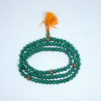 Cheap price and simple Malachite mala buddhist meditation authentic japa mala handmade product nepal jwellery.