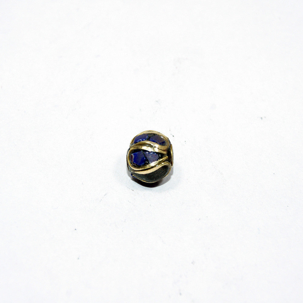 Lapis wrapped bead