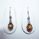 Amber tear drop earring