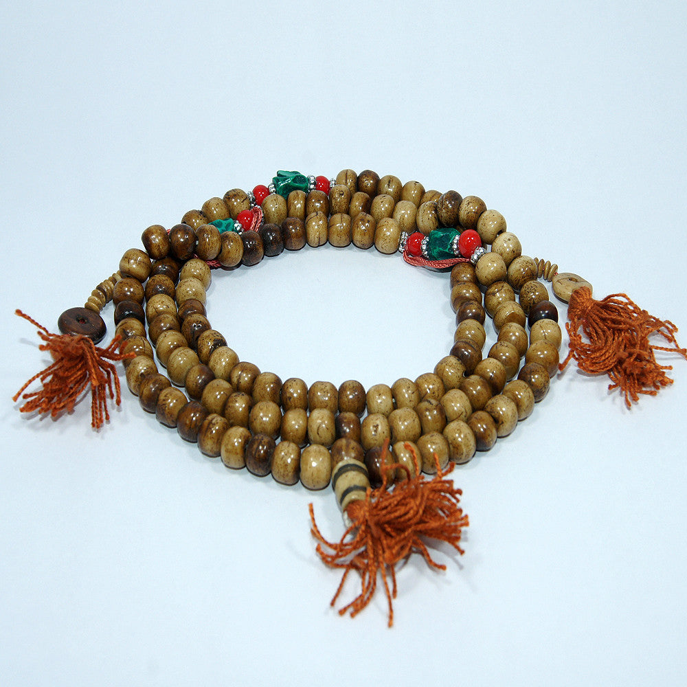 Tibetan Tiger eye turquoise fair trade buddhist prayer buddha monk beads japamala jwellery.