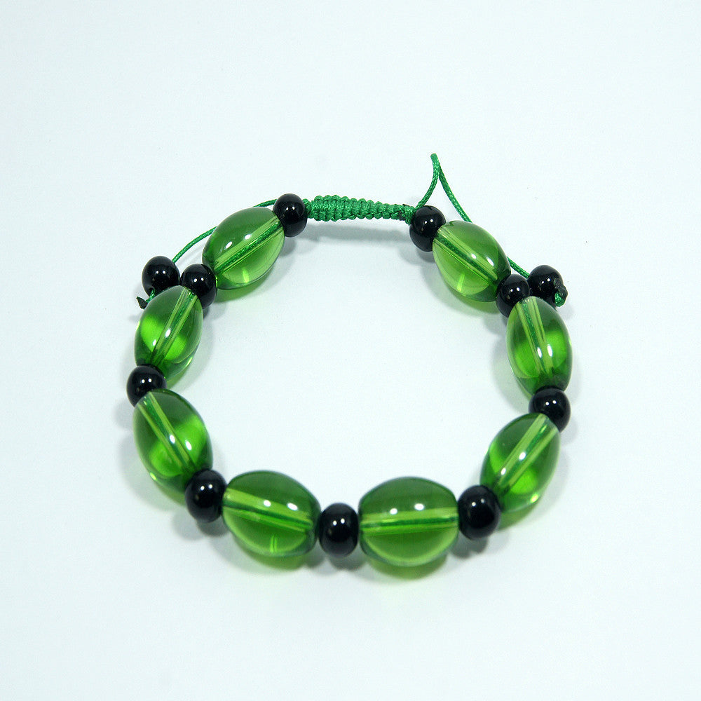 Unique fair trade cheap price buddhist Green Tara Wrist Mala handmade jwellery.
