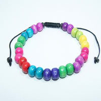 Authentic and colourful fashionable fair trade cheap price Chakra wrist mala handmade in nepal.