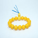 Tibetan authentic Lama Yellow buddhist prayer Wrist Mala beads jwellery cheap price handmade in nepal.