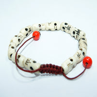 Fair trade fashionable Skully Bone beads cheap price jwellery wrist Mala bracelet handmade in nepal.