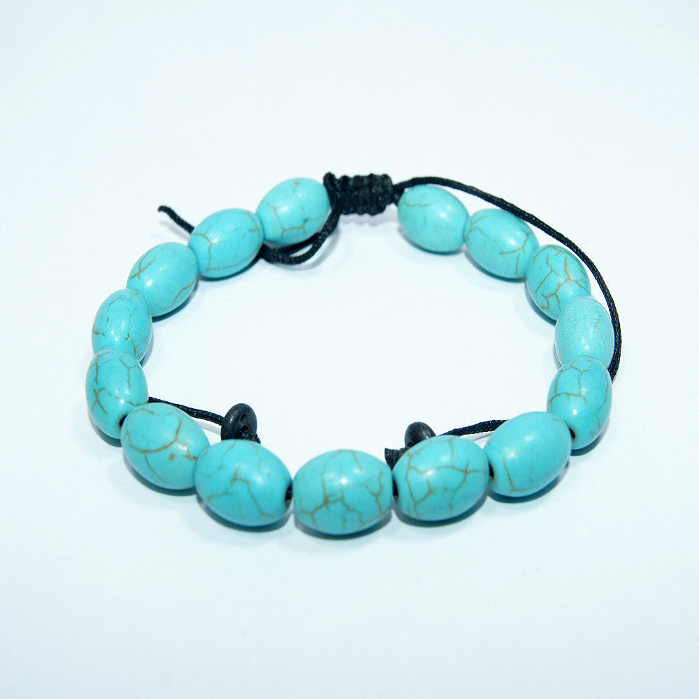Authentic fashionable handmade buddhist prayer Oval Turquoise Wrist Mala cheap price fair trade jwellery.