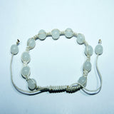 Fair trade cheap price authentic  buddhist Snow quartz trendy wrist mala handmade in nepal.