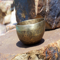 Healmaster Tibetan mantra inscribed antique buddhist himalayan prayer bowl for cheap price online buy.