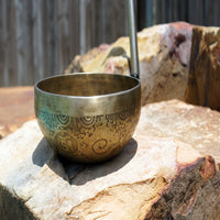 Authentic Travati buddhist ethic singing music bowl handmade in nepal for sale online.