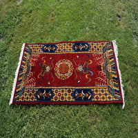 Buddhist Tibetan square cheap outdoor area handmade beautiful and elegant carpet for sale online.