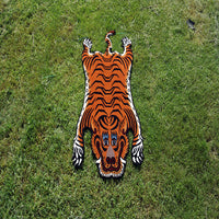 Trendy and simple Large Himalayan Tiger fair trade cheap price carpet made in nepal for online buy.