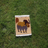Online Tibetan buddhist Himalayan yak meditation authentic fair trade simple carpet for cheap price.