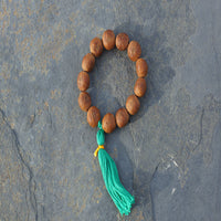Authentic handmade buddha chitta bodhi beads mala mantra blessings buddhism unique bracelet.