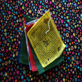 Buddhist Tibetan prayer special himalayan prayer flag made in cotton cloth handmade in Nepal.