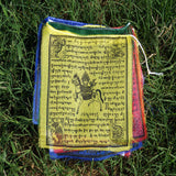 Himalayan authentic buddhist prayer Tibetan Windhorse peace handmade fair trade flag for sale.