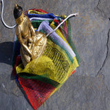 Buddhist prayer Tibetan mantra printed Wind Horse designed small flag for online sale.