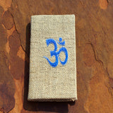 Om symbol hemp unique notebook handmade with love and care for sale online shop.