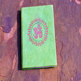 Om printed green coloured personalized notebook for cheap price fair trade online.