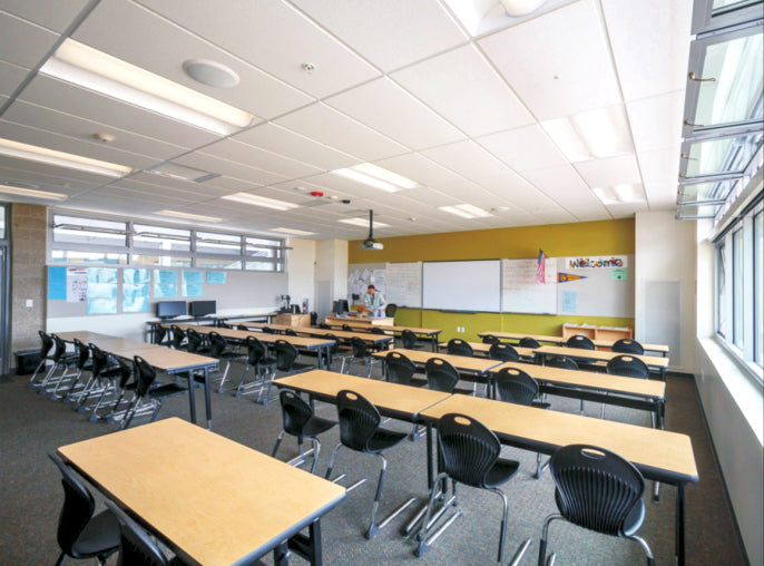Architectural LED Lights at Classroom