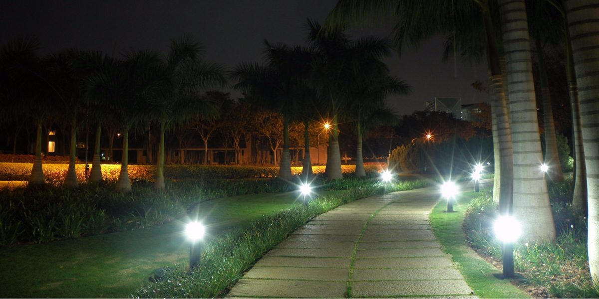 Magnificence of Garden Pathway with LED Landscape Lights