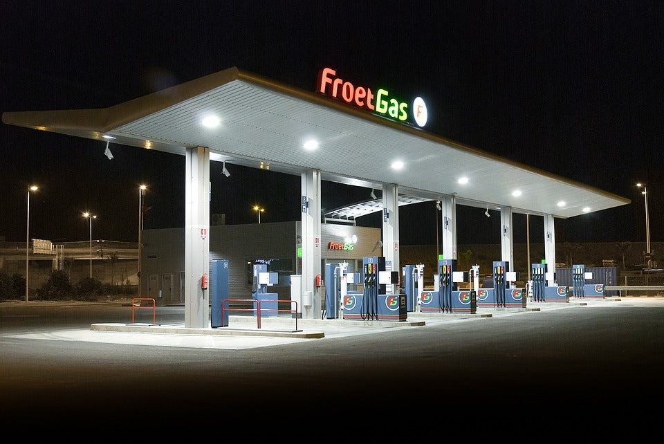 Why Canopy Lights are generally used in Fueling Station?