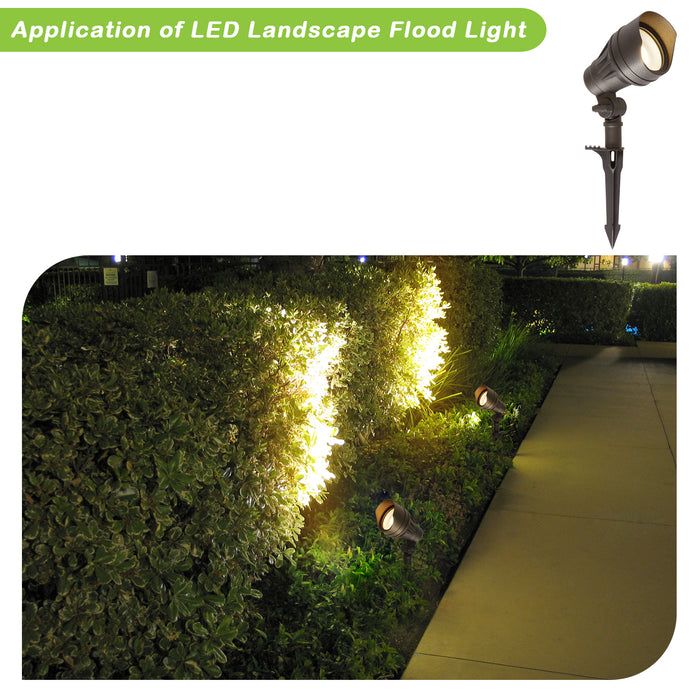 Low Voltage LED Landscape Spot Light Kits, 13.3W 540LM, 4 Pack, Driver & Cable NOT Included
