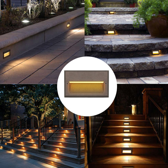 Cold White, 6 Pack LED Deck Lights 12v Low Voltage Landscape Lights Waterproof Stair Lights /Φ1.85 Outdoor Recessed Lighting for Step Stairs Outdoor Garden Yard Patio Fence Decor