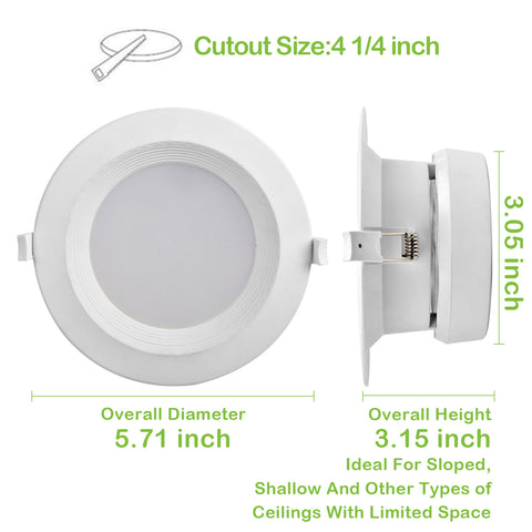 Miraculous 4 In Dimmable Led Recessed Down Light 10W 700 Lm 5000K Wiring Database Pengheclesi4X4Andersnl