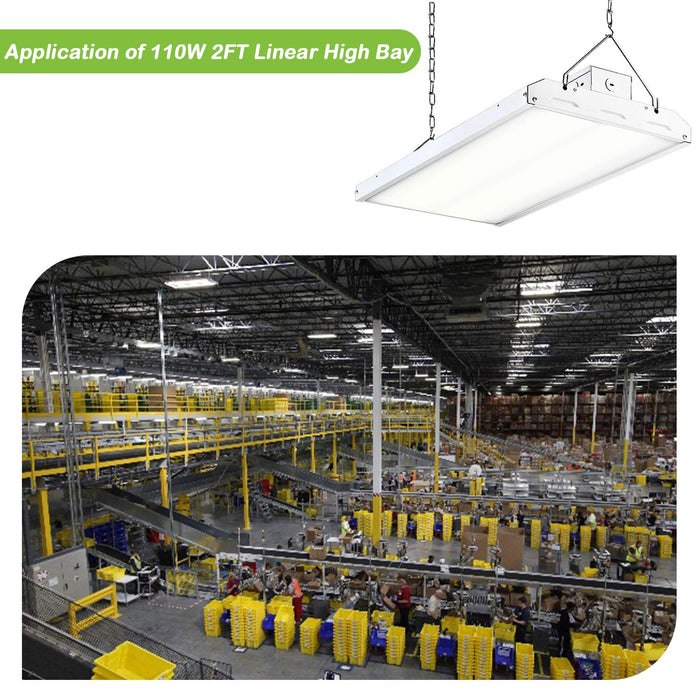 2 ft. 110W Linear LED High Bay Light Fixture, 14410 lm 5000K