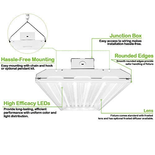High Bay LED Light Fixture 4FT Linear 223 watts — Hykolity High Bay Light Wiring Diagram on