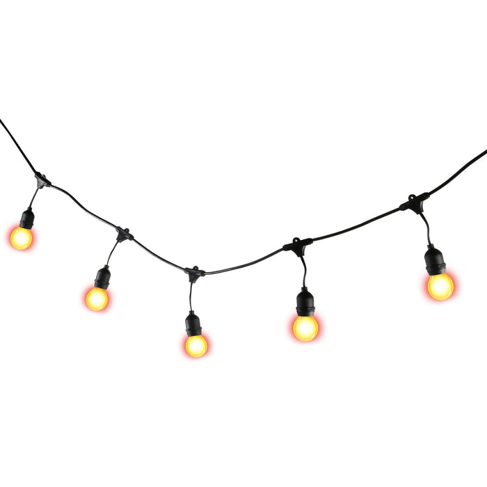 ARCHIVE 24 ft. LED Outdoor String Lights with E26 Base Edison Style Bulbs