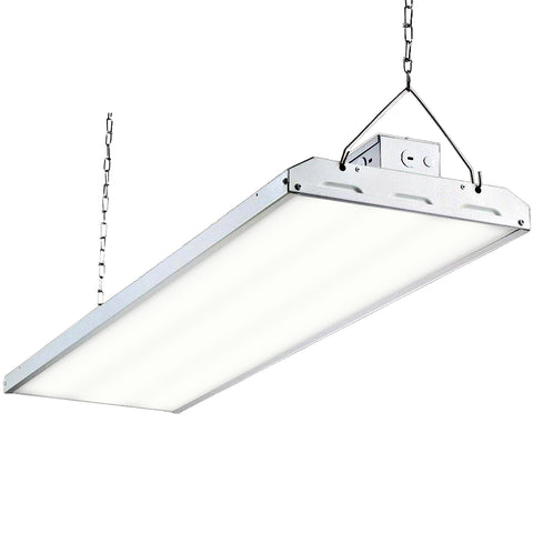 Hykolity LED High Bay Shop Light, 4FT 265W Linear LED Industrial Workshop Light, Warehouse Aisle Area Light 34450lm, 5000K Daylight, 4 Lamp Fluorescent Equivalent, 1-10V Dim, UL, DLC Complied, 1 Pack